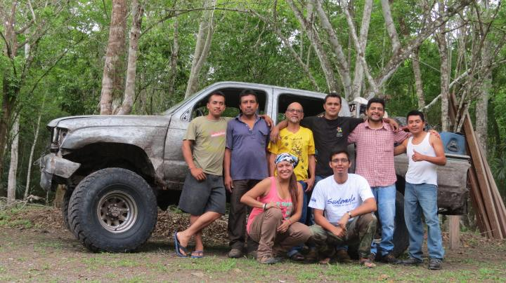 BAIRDS GUATEMALA working team in Dos Lagunas Biotopo